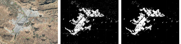 استخراج نقشه اراضی شهری در کرمانشاه