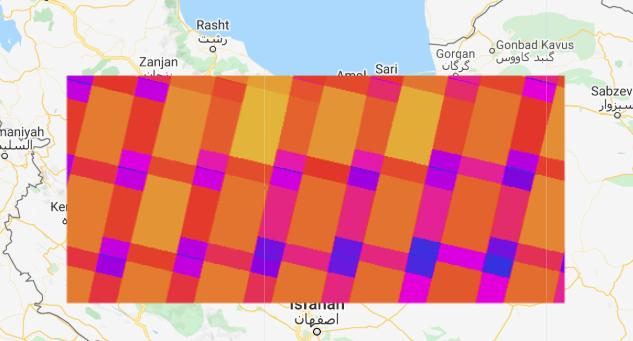 نمایش تعداد پوشش لندست 8 بدون ابر در سال 2019