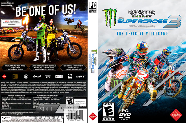 Monster Energy Supercross The Official Videogame 3 Cover