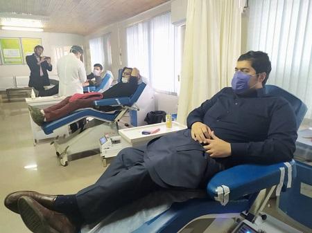 خبرنگاران و هنرمندان آستارایی خون اهدا کردند