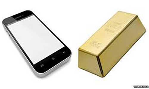 بازیافت ۴۰ میلیون دلار طلا از گوشی آیفون
