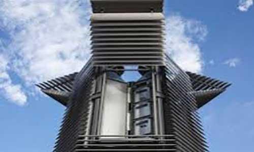 رونمایی از برج دود زدا برای حل مشکل آلودگی هوا