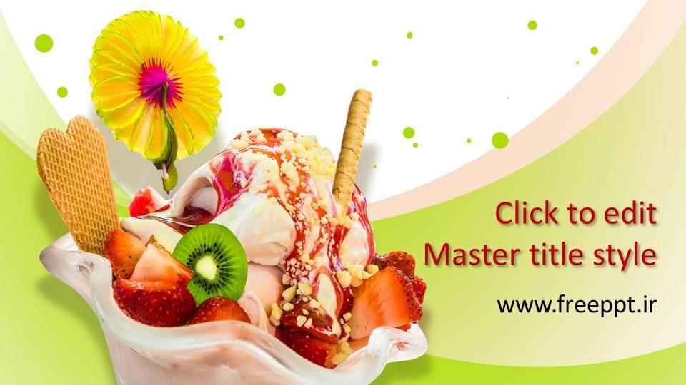 قالب پاورپوینت بستنی میوه ای
