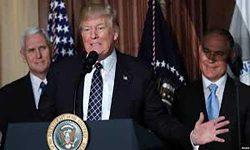 ترامپ یکی از منقدان طرح محیط زیستی اوباما را رئیس آژانس محیط زیست آمریکا کرد
