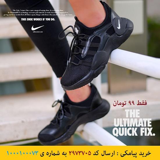 خرید پیامکی کفش دخترانه NIKE مدل Eva(مشکی)