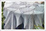 رومیزی مربع بزرگ قلاب بافی