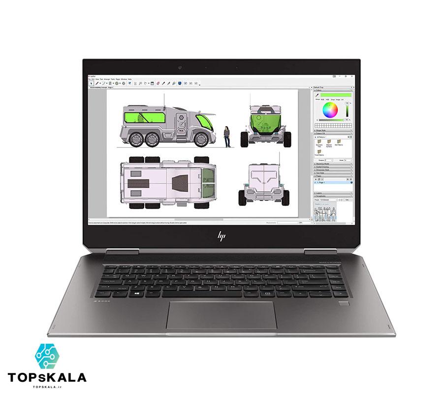 لپ تاپ استوک اچ پی مدل HP ZBOOK STUDIO 15 G5 - پردازنده i9 9980HK با گرافیک NVIDIA QUADRO P2000