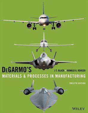 حل المسائل کتاب مواد و فرایندها در ساخت و تولید پائول دگارمو PAUL DEGARMO