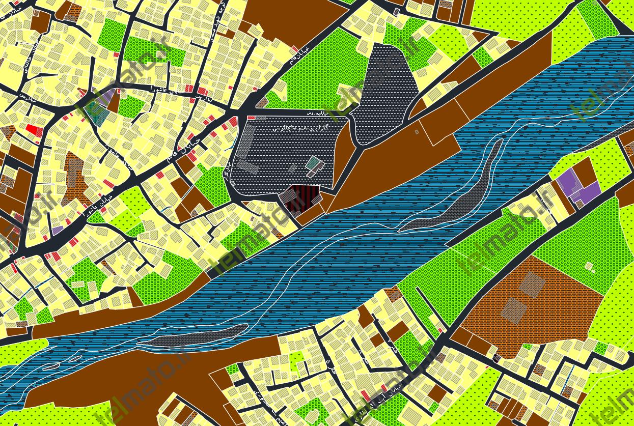 دانلود نقشه اتوکد و طرح تفصیلی شهر چالوس با فرمت DWG + فایل آماده